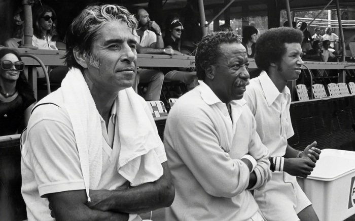 Pancho Gonzales, Gordon Parks and Arthur Ashes