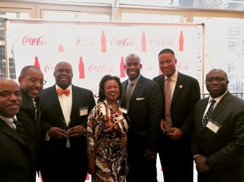 The League of 1789 hosts with honorees. L to R: Maurice Goodman; Greg Davis; New York City Deputy Mayor, Richard Buery; Lolita Jackson; Philadelphia City Councilman At-Large, Derek Green; Pennsylvania Montgomery County Commissioner (Vice Chair), Kenneth Lawrence Jr.; and Dawrwin Beauvais. (Photo by Alist Events Marketing, LLC)